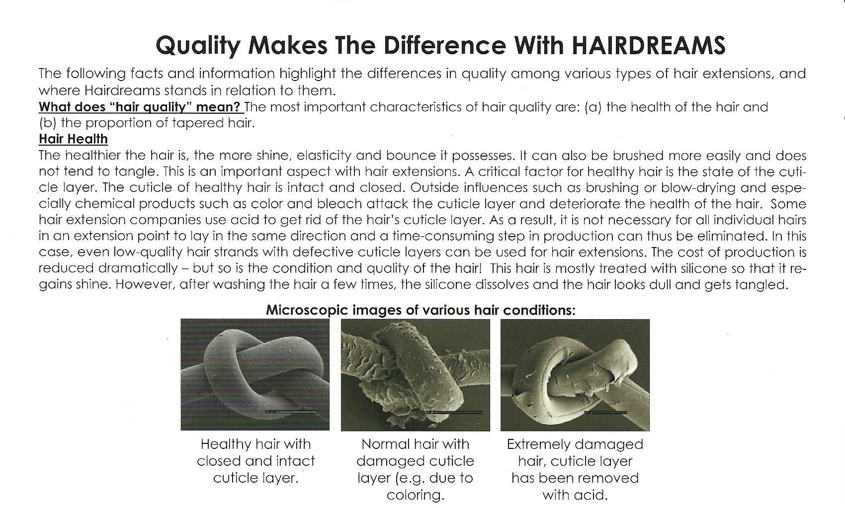 Quality Makes the Difference