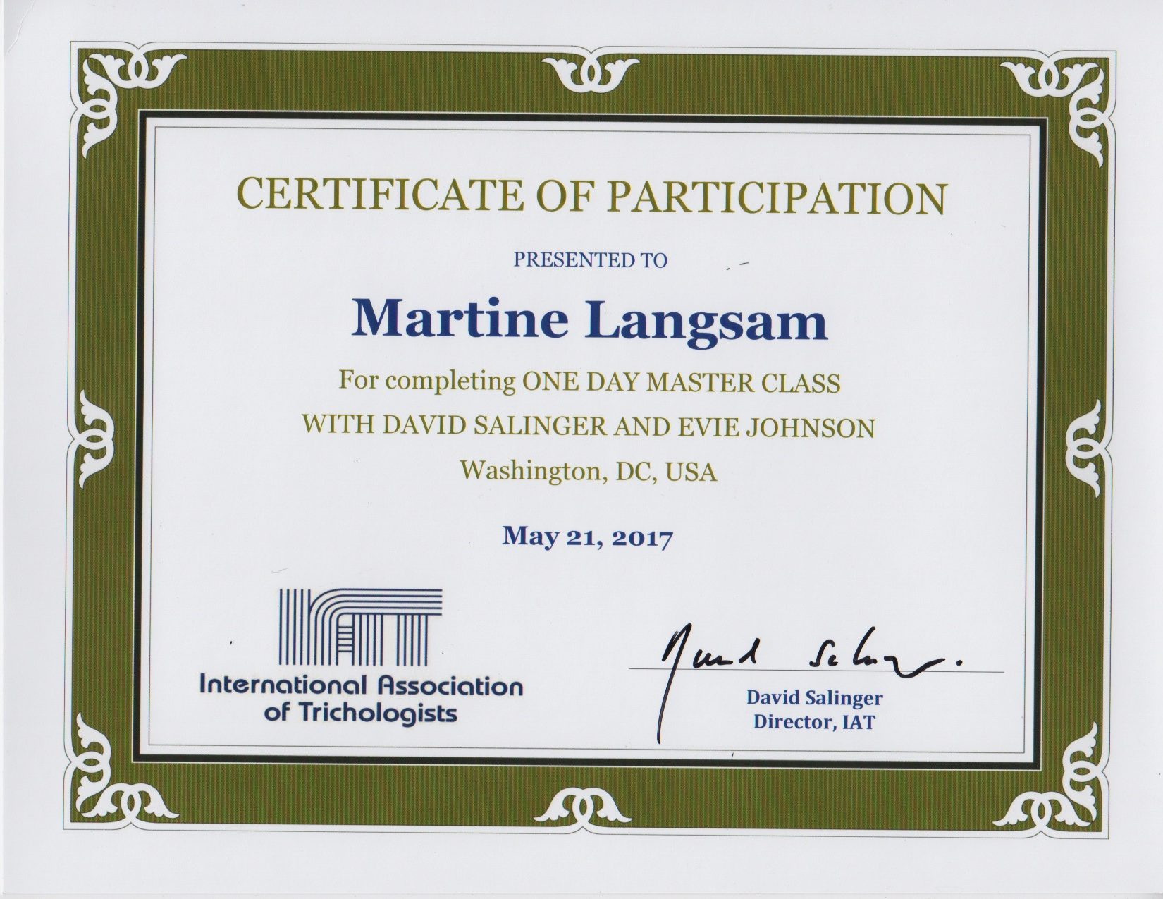 About Martine Langsam Iat