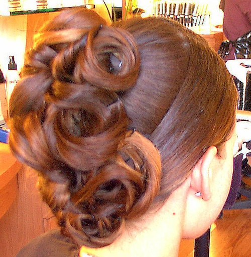 beautiful updo back view